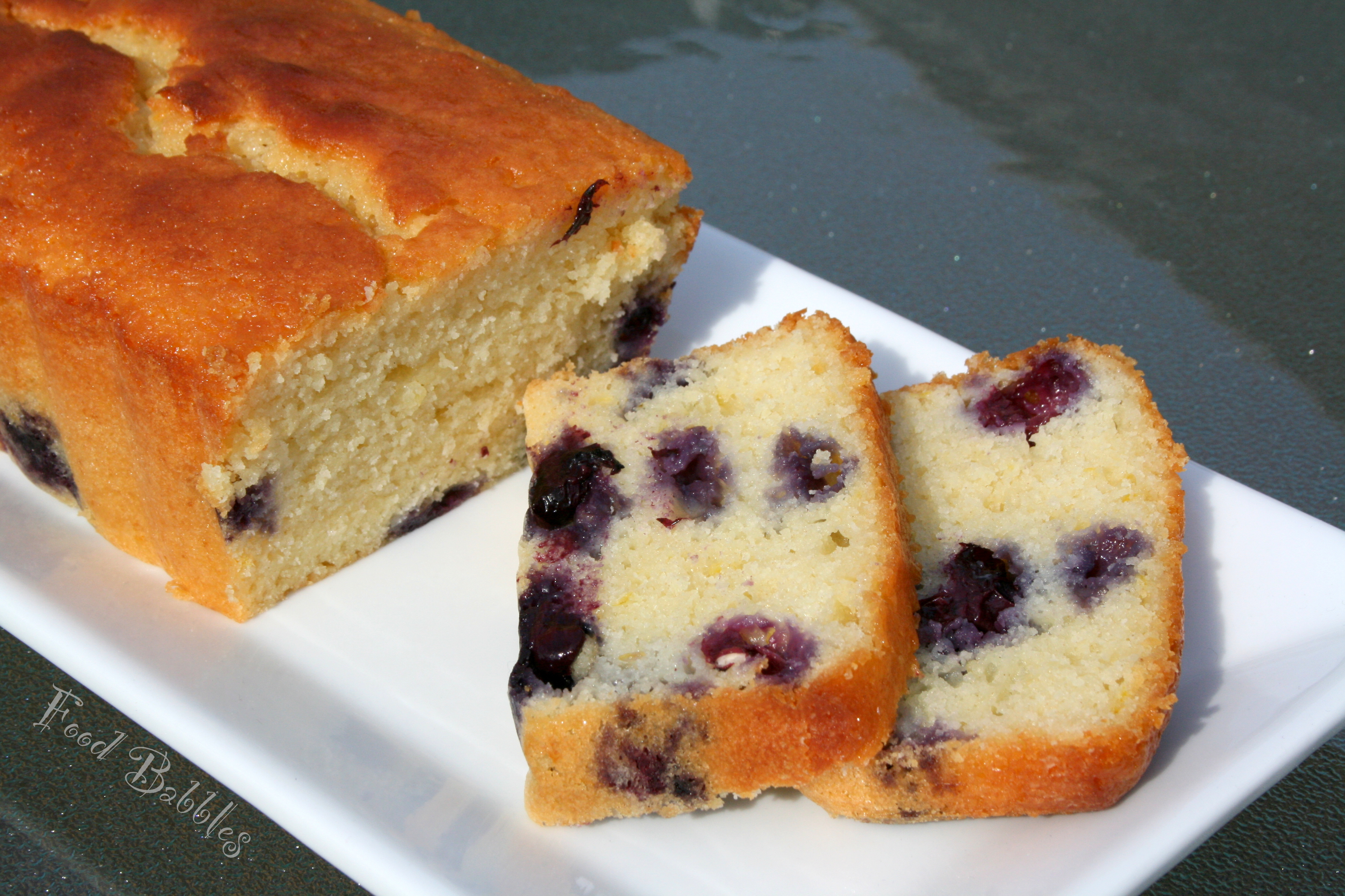 Moist Blueberry Loaf Cake