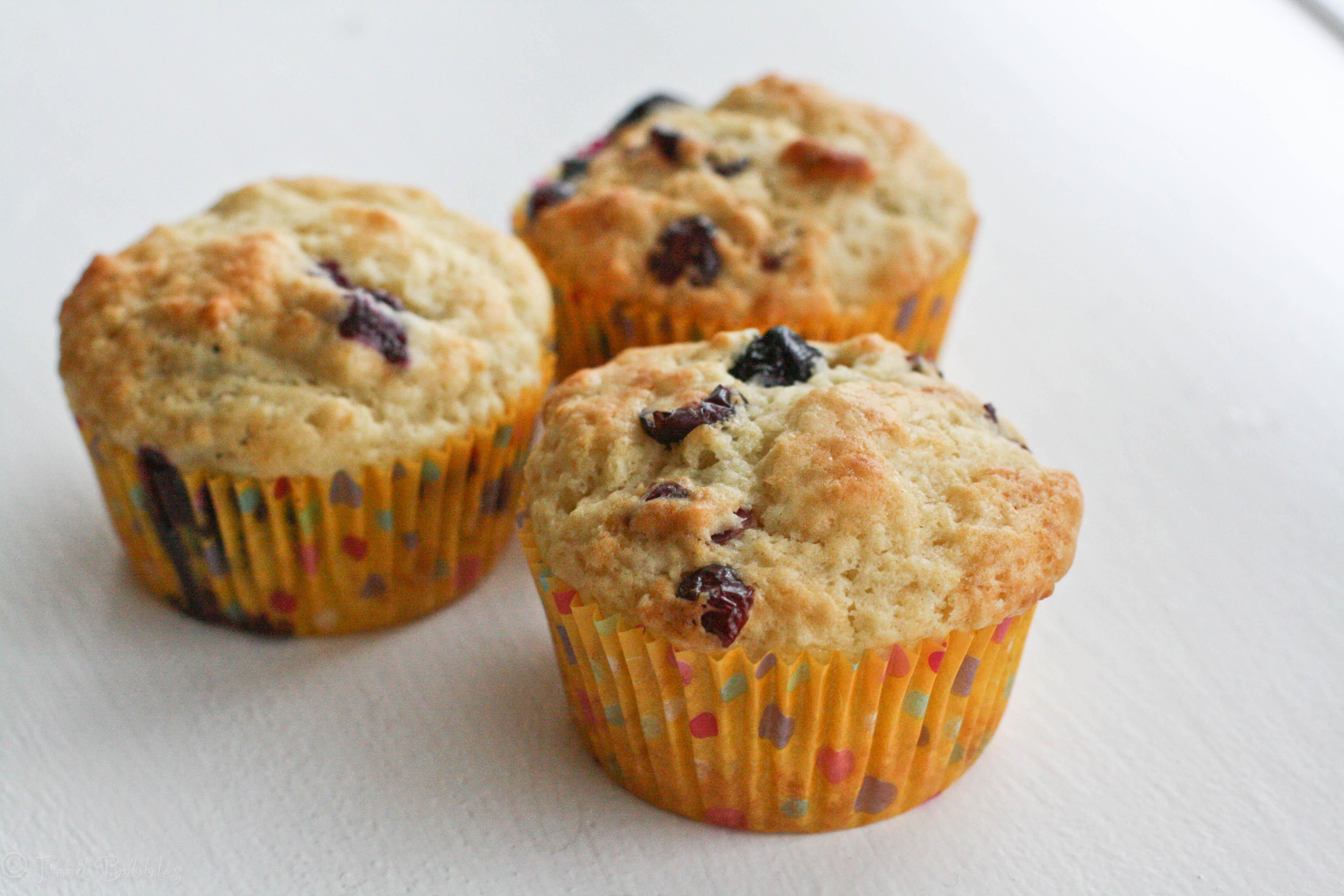 Blueberry Cranberry Buttermilk Muffins ~ #MuffinMonday