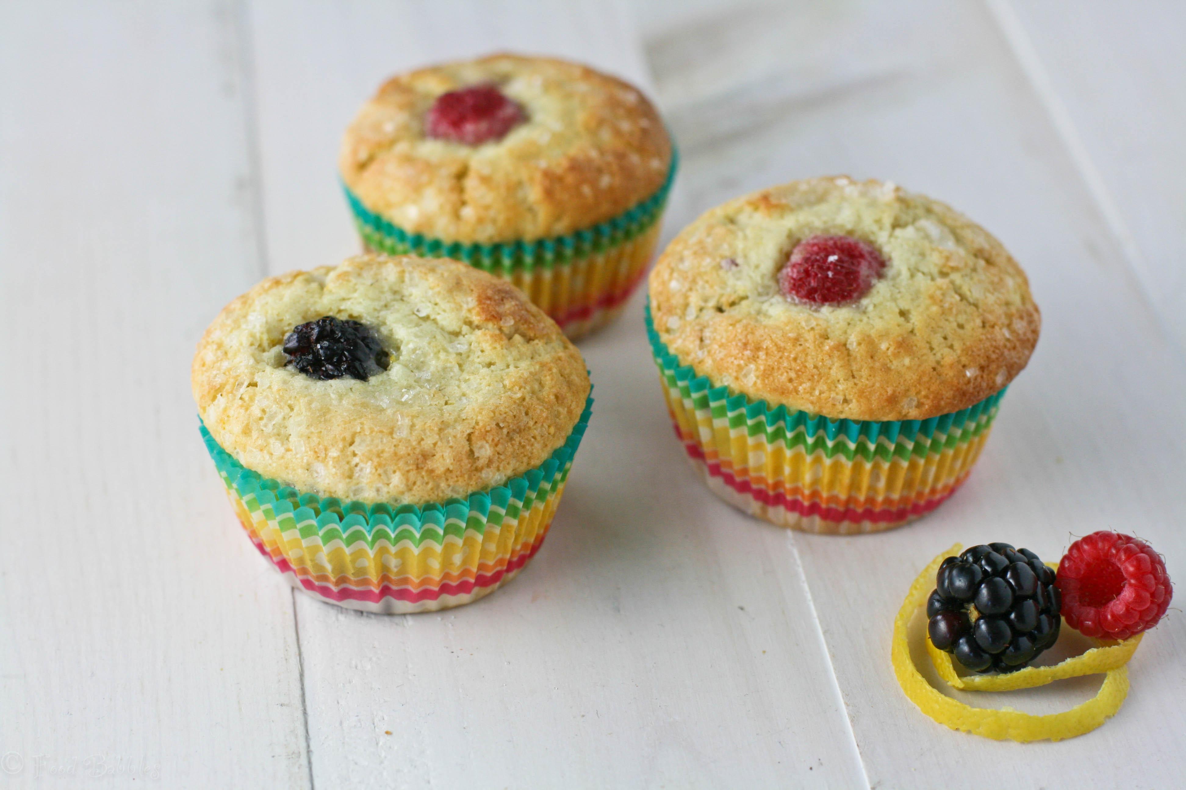 Sugar-Crusted Raspberry Muffins Recipe — Dishmaps